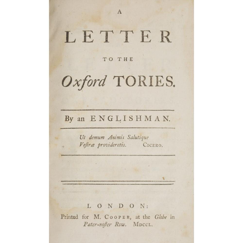 JACOBITE PAMPHLETS, 1748-1756 10 ITEMS, COMPRISING: