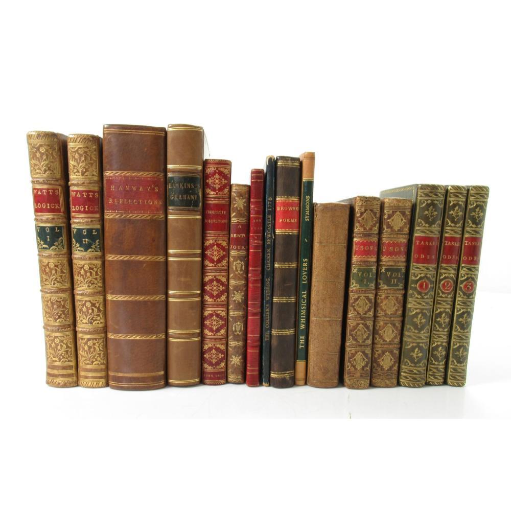 Bindings 16 volumes, including Haller, Baron