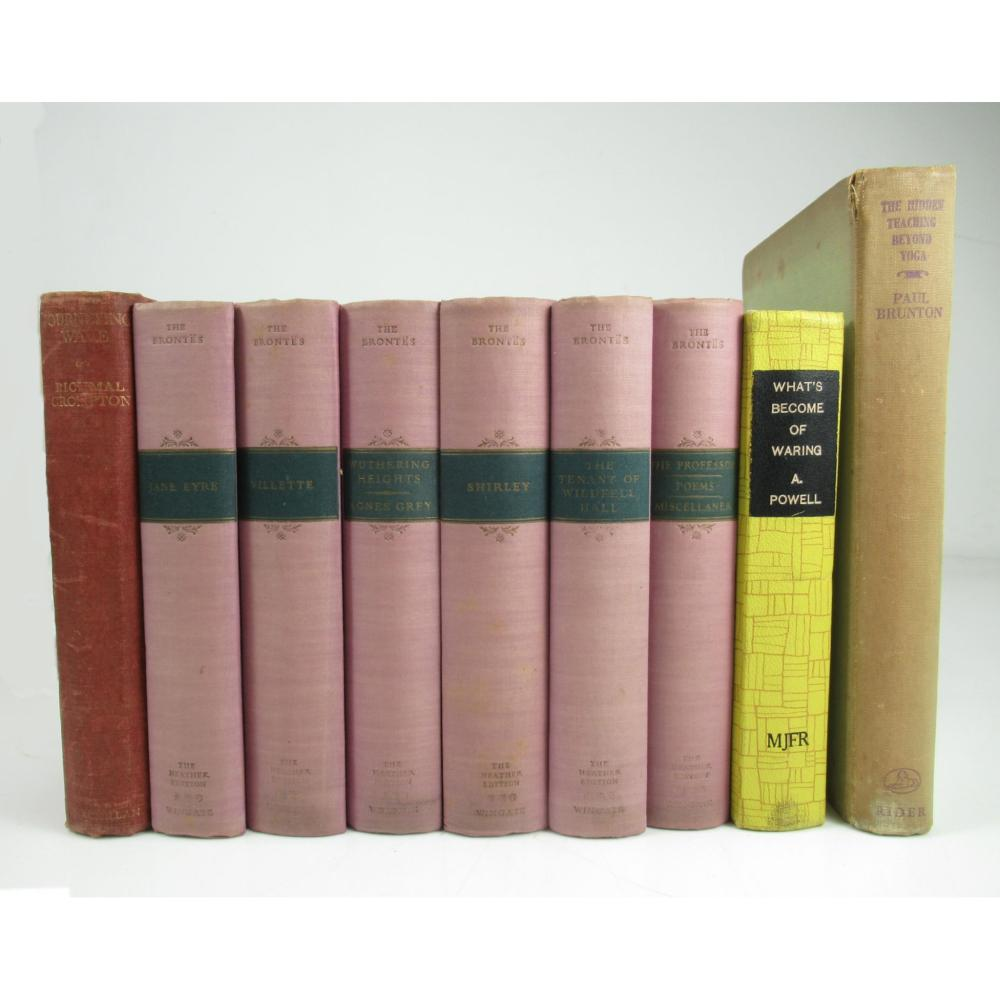 A collection of cloth-bound literature 9 volumes, including Brontë, Charlotte, Mary & Anne