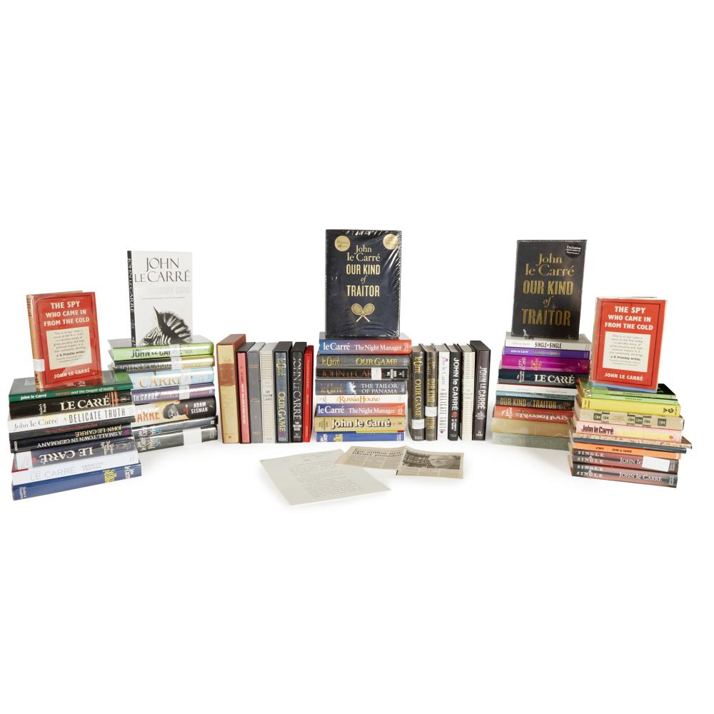 Le Carré, John [Cornwell, David] A full set of John Le Carré's works,many signed and in first edition, along with several proof and variant editions: 62 books