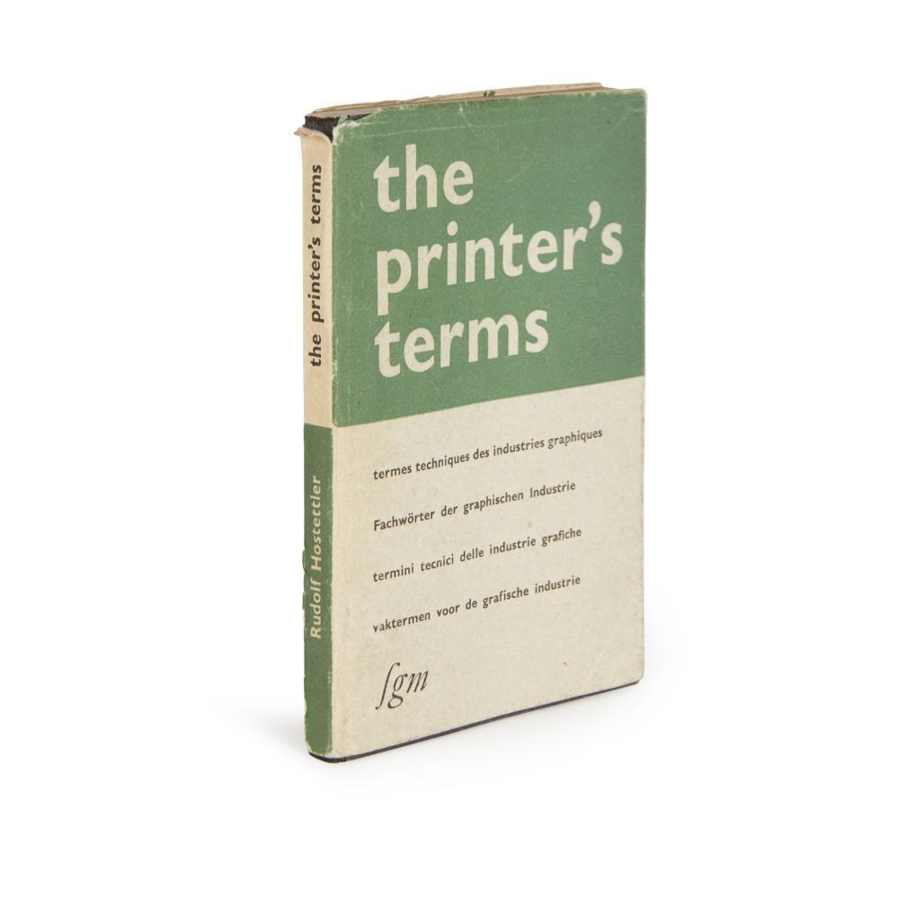 Hostettler, Rudolf  The Printer's Terms