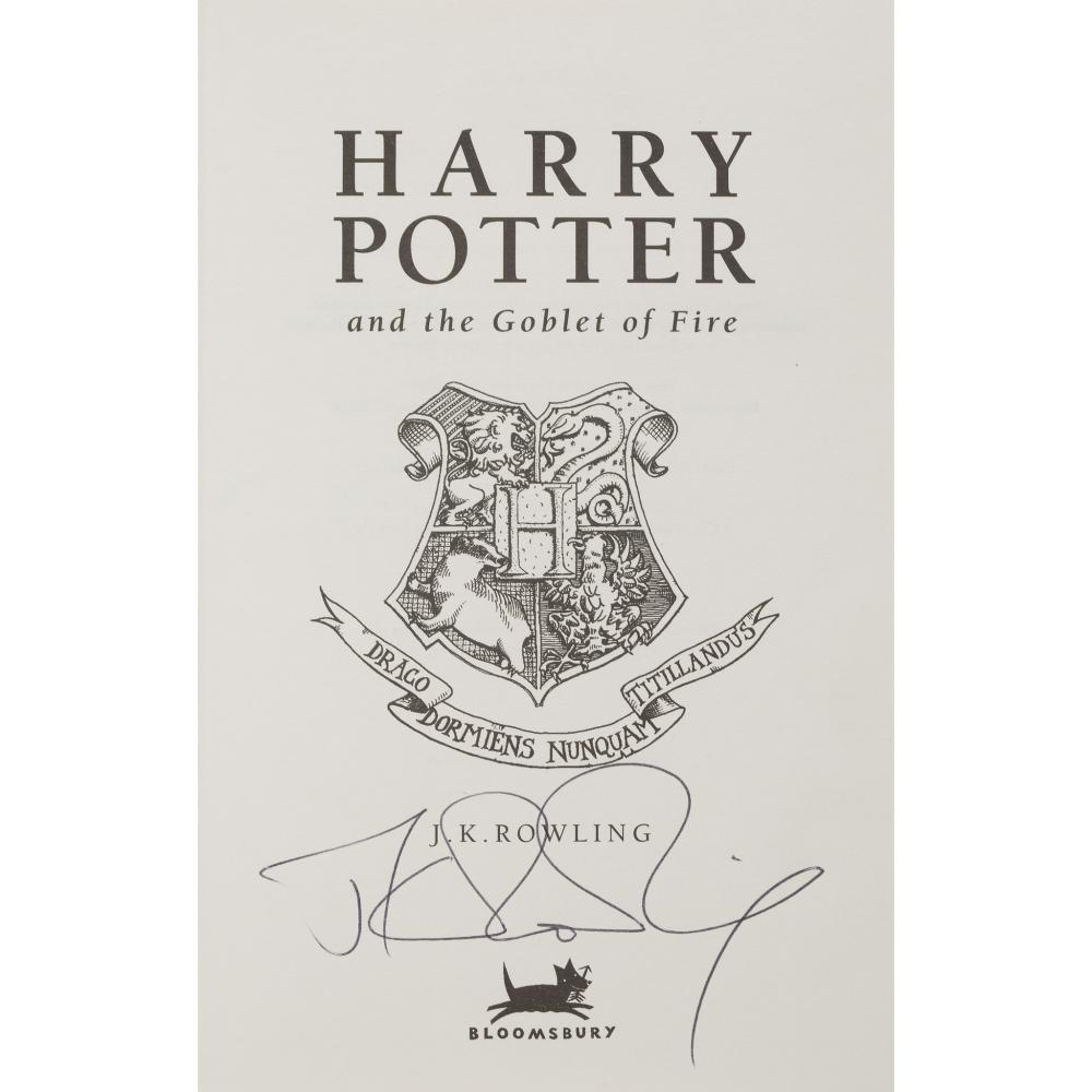 ROWLING, J.K. HARRY POTTER AND THE GOBLET OF FIRE
