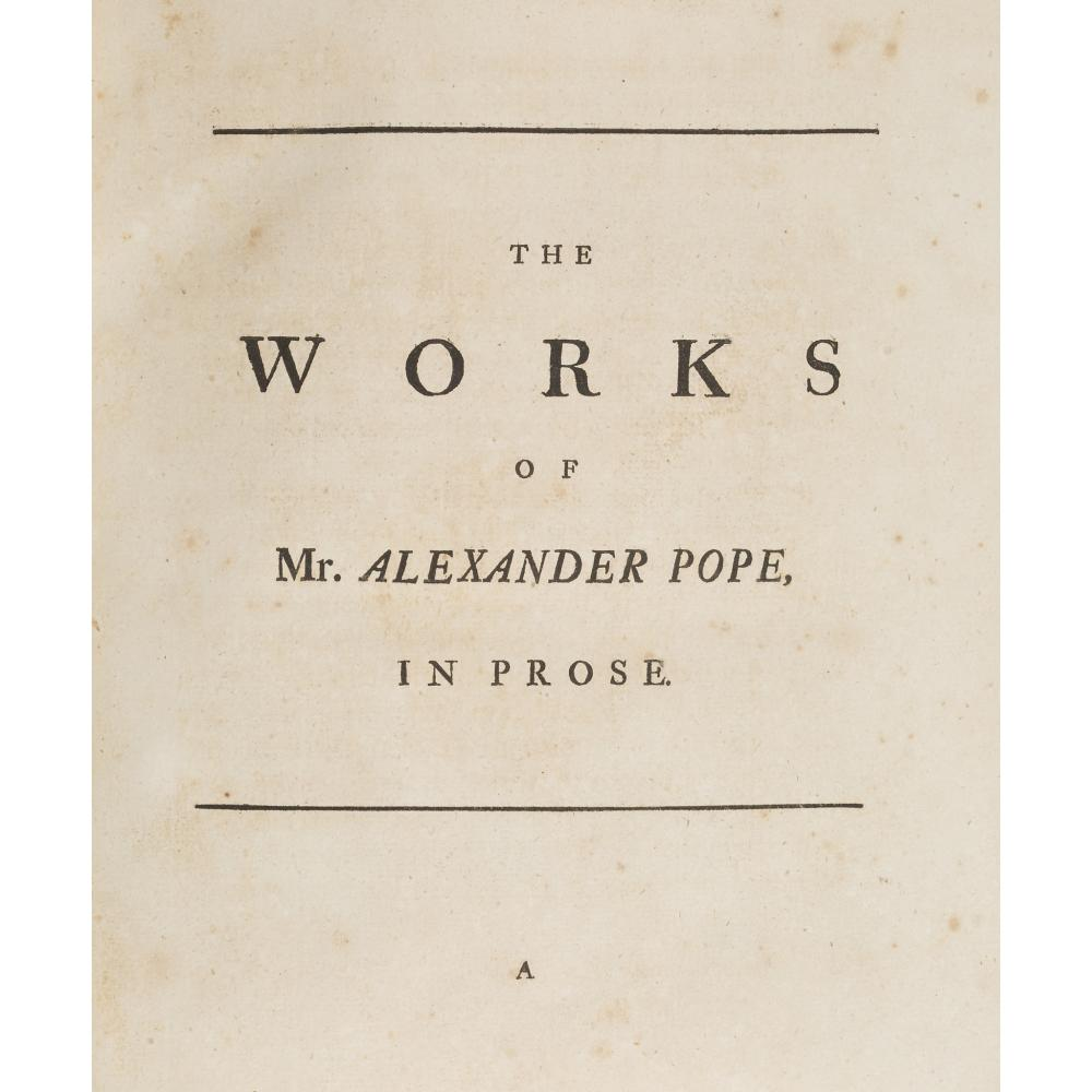 Pope, Alexander The Works