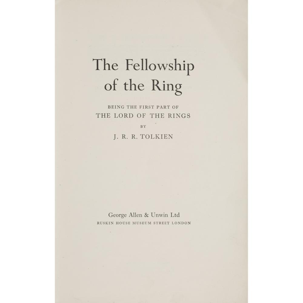 TOLKIEN, J.R.R. THE FELLOWSHIP OF THE RING - UNCORRECTED PROOF COPY