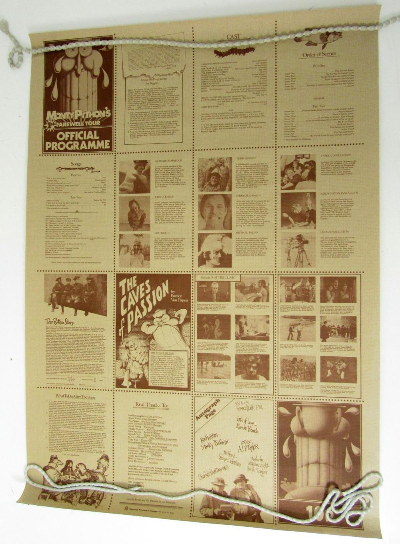 GILLIAM, TERRY (B.1940) - MONTY PYTHON PROGRAMME/POSTER: 'MONTY PYTHON'S 1ST FAREWELL TOUR', 1973