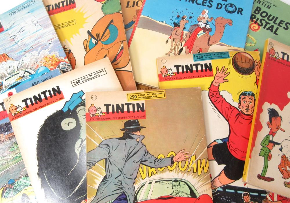 HERGÉ A COLLECTION OF 16 TINTIN BOOKS