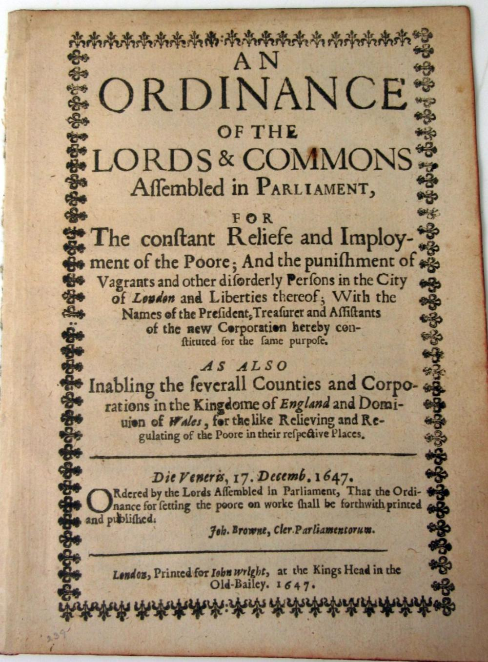 THE POOR AND POOR LAWS, 4 VOLUMES INCLUDING POTTER, ROBERT