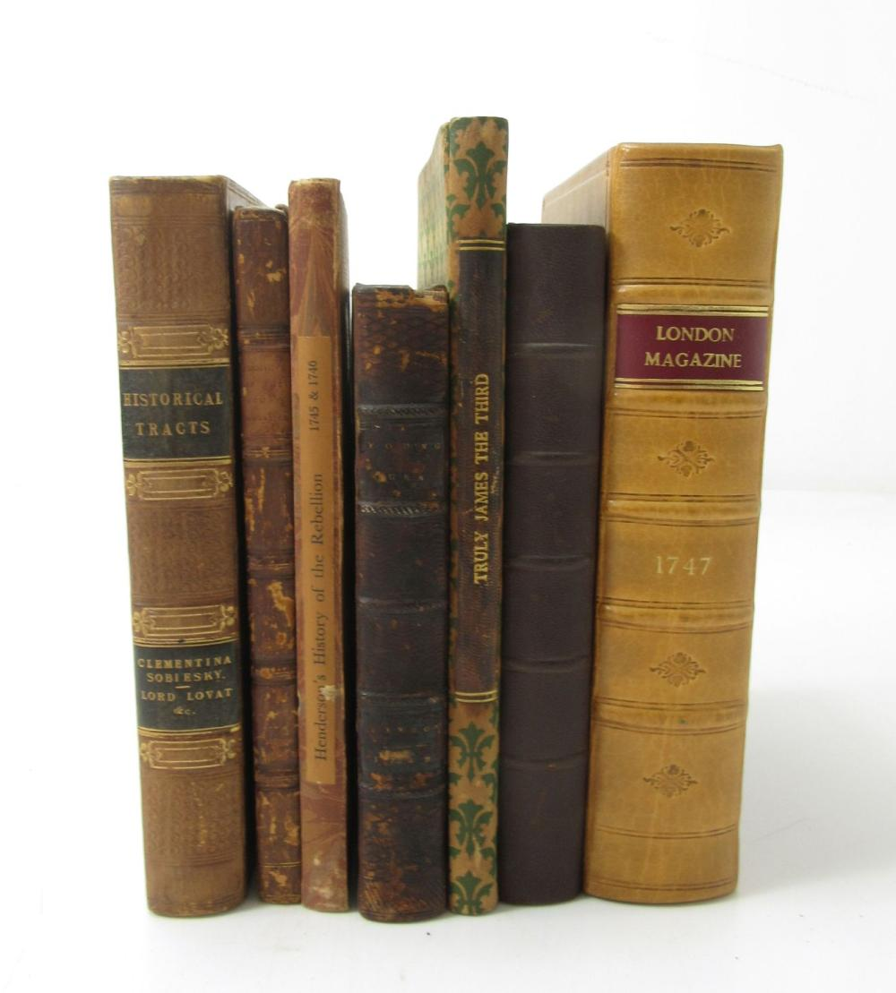 1715 & 1745 RISINGS, A COLLECTION OF 15 BOOKS AND PAMPHLETS, BOUND IN 7 VOLUMES, INCLUDING [WOGAN, SIR CHARLES] FEMALE FORTITUDE EXEMPLIFY'D...