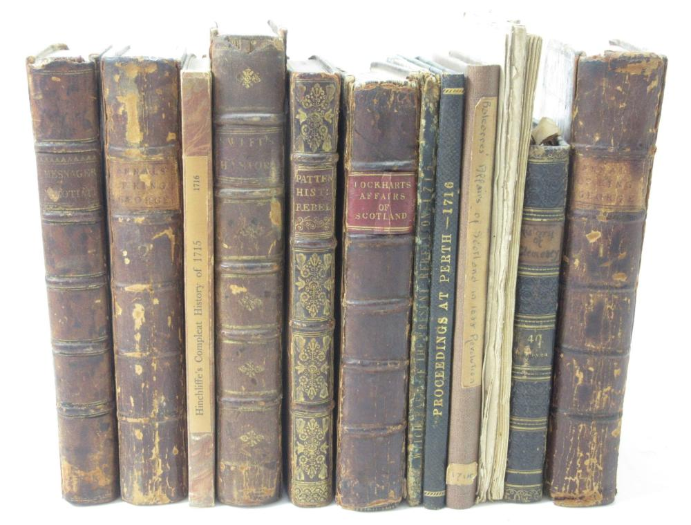 1715 JACOBITE RISING, A COLLECTION OF 13 BOOKS AND PAMPHLETS INCLUDING [DEFOE, DANIEL]