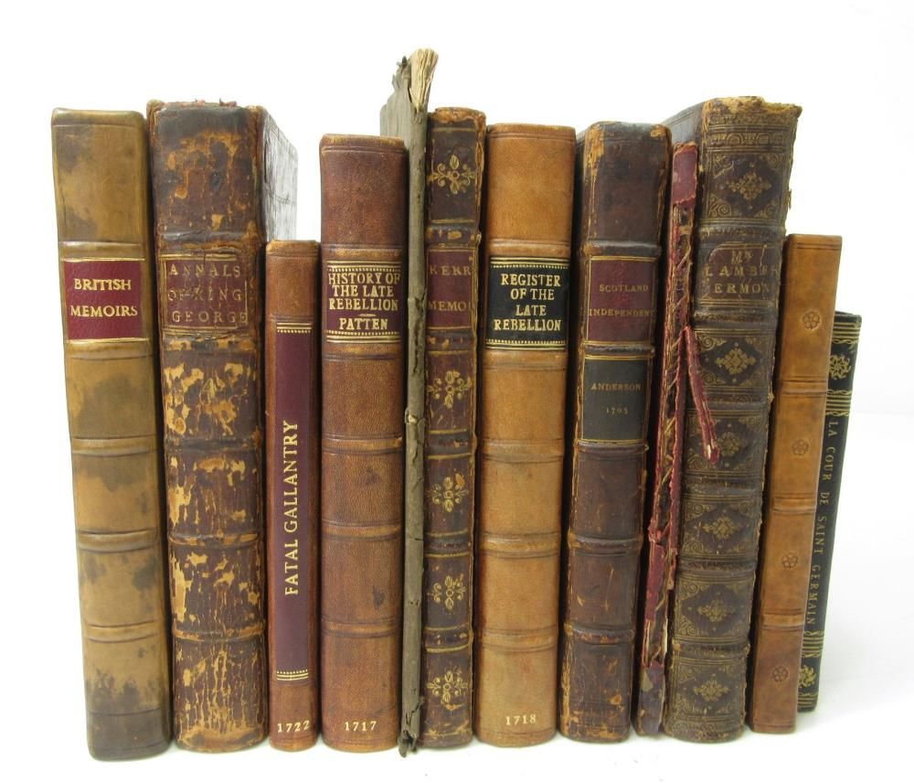 JACOBITE HISTORY, 1688-1726 A COLLECTION OF 12 VOLUMES, COMPRISING: