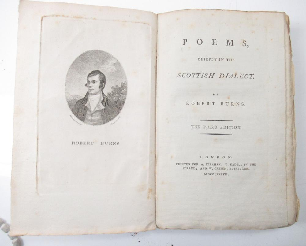 BURNS, ROBERT POEMS, CHIEFLY IN THE SCOTTISH DIALECT