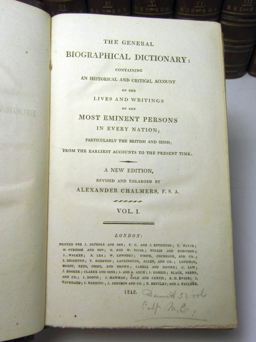 Chambers, Alexander The General Biographical Dictionary