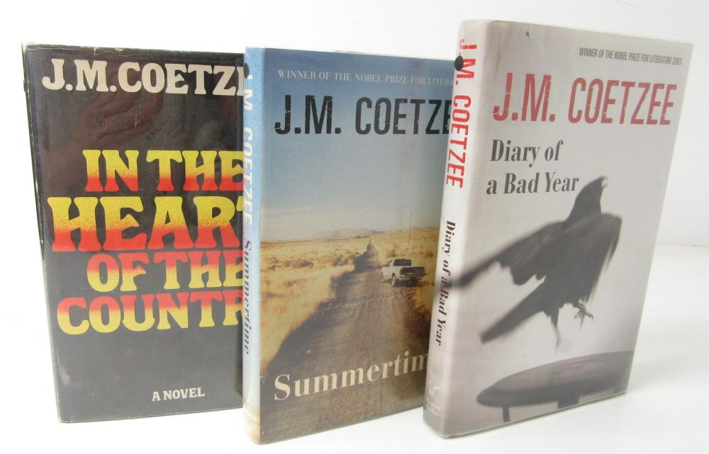 Coetzee, J.M. Three signed first editions, comprising