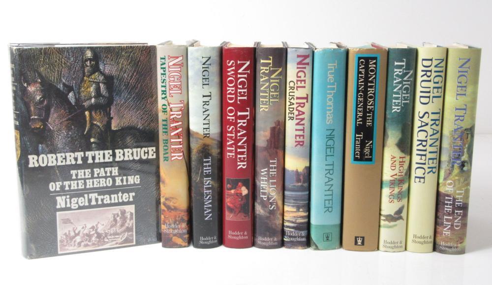 Nigel Tranter, 24 novels, & Wilbur Smith, 12 novels, comprising Tranter, N.