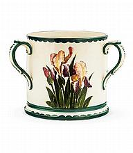 WEMYSS WARE LARGE 'PURPLE IRISES' LOVING CUP, CIRCA 1900 24cm high
