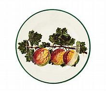 WEMYSS WARE 'GOOSEBERRIES' SIDE PLATE, CIRCA 1900 17cm diameter