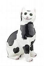 WEYMSS WARE LARGE CAT FIGURE, POST 1930 32cm high