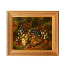HENRY JOHN LIVENS (BRITISH 1848-1943) STILL LIFE OF FRUIT 49cm x 60cm (19.25in x 23.5in)