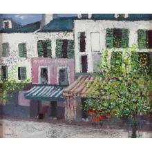 [§] VALERIE FRASER R.S.W. (SCOTTISH B. 1933) PARISIAN STREET SCENE 45cm x 55cm (17.75in x 21.75in)