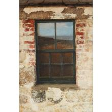 [§] JOHN GARDINER CRAWFORD R.S.W. (SCOTTISH B.1941) WINDOW ON THE SEA 74cm x 49cm (29in x 19.25in)
