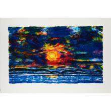 [§] JOHN HOUSTON O.B.E., R.S.A., R.S.W., R.G.I. (SCOTTISH 1930-2008) SUNSET OVER FIFE, 1995 74cm x 108cm (29in x 42.5in)