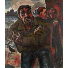 [§] PETER HOWSON (SCOTTISH B.1958) EL DORADO, 1985 126cm x 108cm (49.5in x 42.5in)
