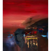[§] CHRIS BUSHE R.S.W. (SCOTTISH B.1958) THE WITCHING HOUR - 2006 67.5cm x 60cm (26.5in x 23.5in)