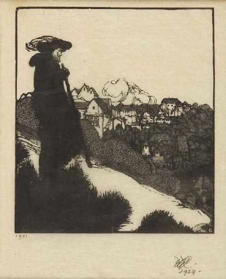 EDWARD GORDON CRAIG (1872-1966) THE PIED PIPER