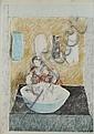 DUNCAN GRANT (SCOTTISH 1885-1978) WASHERWOMAN 72.9cm x 52.1cm (28.7in x 20.5in)