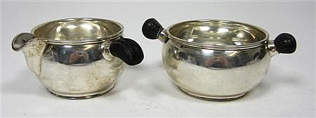 A modern Danish sugar and cream 4.5cm high, combined weight 4.7oz