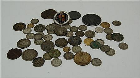 A collection of coins