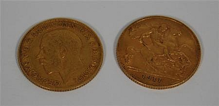 Two half sovereigns