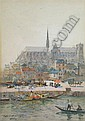 JAMES GARDEN LAING R.S.W. (SCOTTISH, 1852-1915) AMIENS CATHEDRAL 34cm x 25cm (13.25in x 9.75in), James G. Laing, Click for value