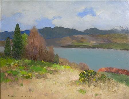 FRANCIS WILSON (SCOTTISH, 1876-1957) THE GARELOCH 33cm x 43cm (13in x 17in)