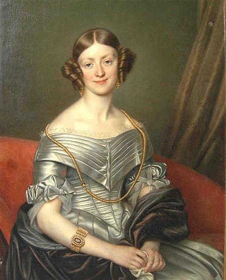 CORNELIUS CELS (BELGIAN 1778-1859) PORTRAIT OF JESSY MACPHERSON NEE YOUNG 98cm x 80cm (38.5in x 31.5in) and another by the same hand...