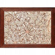 WILLIAM MORRIS (1834-1896) FOR MORRIS & CO. ''HONEYSUCKLE'' PRINTED LINEN PANEL, CIRCA 1876 30x 43cm