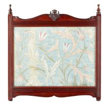 MAY MORRIS (1862-1938) FOR MORRIS & CO. EMBROIDERED SILKWORK PANEL, CIRCA 1885 41.5 x 37cm