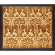 WARNERS & CO. ''ST. AUGUSTINE'', A WOVEN SILK DAMASK PANEL, CIRCA 1898 44.5 x 53cm