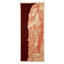 AFTER FERDINAND BARBEDIENNE EMBROIDERED APPLIQUÉ HANGING PANEL, FRENCH CIRCA 1870 152 x 62cm