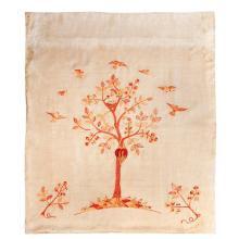 SIR ROBERT LORIMER (1864-1929) IMPORTANT CREWELWORK HANGING PANEL FOR EARLSHALL, FIFE, DATED 1893 177 x 154cm