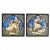 JOHN MOYR SMITH (1839-1912) FOR MINTON'S CHINA WORKS PAIR OF DUST-PRESSED TILES, CIRCA 1875 20.3cm square, J. Moyr Smith, Click for value