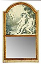 FRENCH TRUMEAU MIRROR 18TH CENTURY 78cm wide, 132cm high