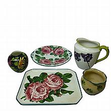 WEMYSS WARE 'CABBAGE ROSES' COMB TRAY, EARLY 20TH CENTURY