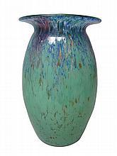 JOHN MONCRIEFF LTD., PERTH 'MONART' GLASS VASE, CIRCA 1930 22.5cm high
