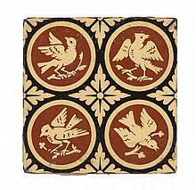 A.W.N. PUGIN (1812-1852) FOR MINTON & CO. GROUP OF TWENTY-TWO ENCAUSTIC TILES, CIRCA 1850 each 15.2cm square