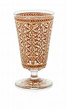 ATTRIBUTED TO J. & L. LOBMEYR FOOTED GLASS AND ENAMEL TUMBLER, CIRCA 1880 12cm high