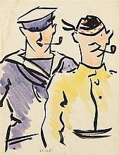 FRANCIS CAMPBELL BOILEAU CADELL R.S.A, R.S.W. (SCOTTISH 1883-1937) TOMMY & JACK 33.5cm x 26cm (13.25in x 10.25in)