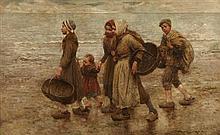 ROBERT MCGREGOR R.S.A. (SCOTTISH 1847-1922) THE CHILDREN OF THE BEACH 93cm x 147cm (36.5in x 58in)