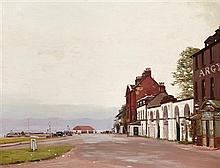 § GEORGE HOUSTON R.S.A., R.S.W., R.I. (SCOTTISH 1869-1947) THE ARGYLL HOTEL, INVERARAY 1927 68cm x 88cm (27in x 34.5in)