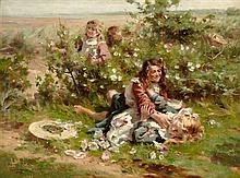 WILLIAM MARSHALL BROWN R.S.A., R.S.W. (SCOTTISH 1863-1936) WILD ROSES 91cm x 122cm (36in x 48in)